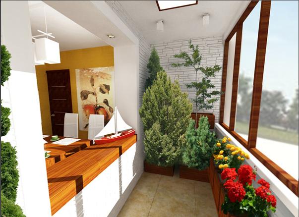 - Cucina sul balcone ...