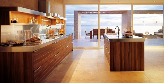 Modern Kitchen In Wooden Finish 5 Trendy, elegant kitchens for everyone`s taste!