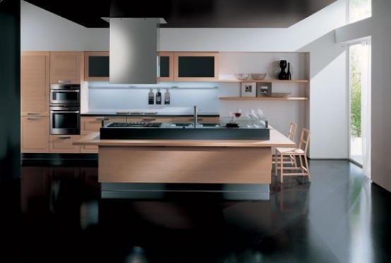 Modern Kitchen In Wooden Finish 7 554x373 Trendy, elegant kitchens for everyone`s taste!