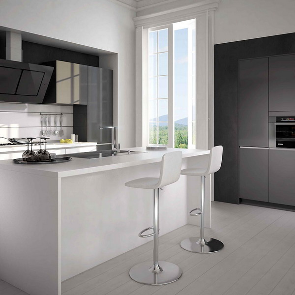 Kitchen White Plus Achromatic6 Amazing Chairs For Your Kitchen Decor
