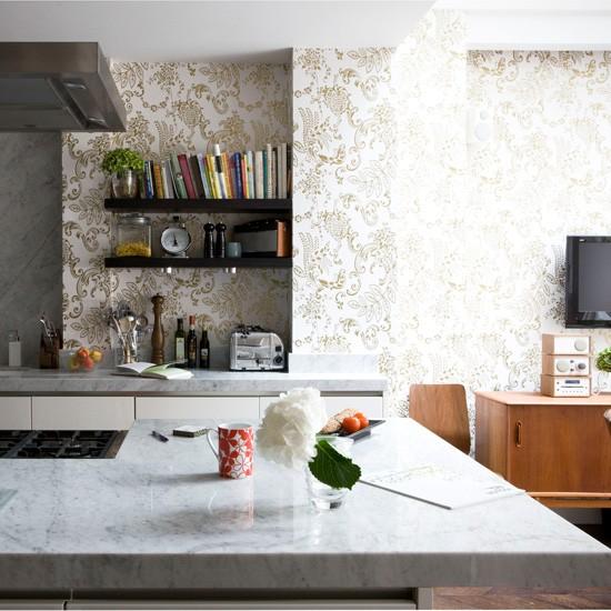 За тапети в кухнята интериор идеи за
