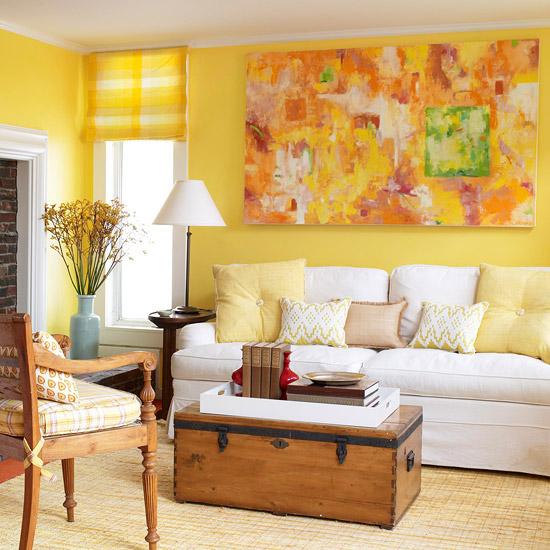 Yellow And Green Kids Room Ideas: Идеи за всекидневна в жълто