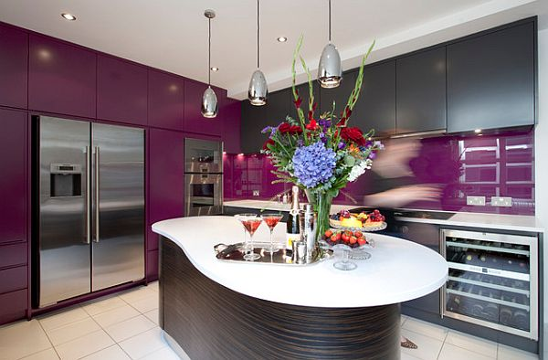 purple kitchen designs лилави акценти за стилни кухни 1686