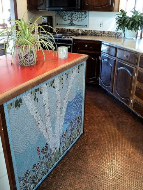 unique kitchen island designs 44