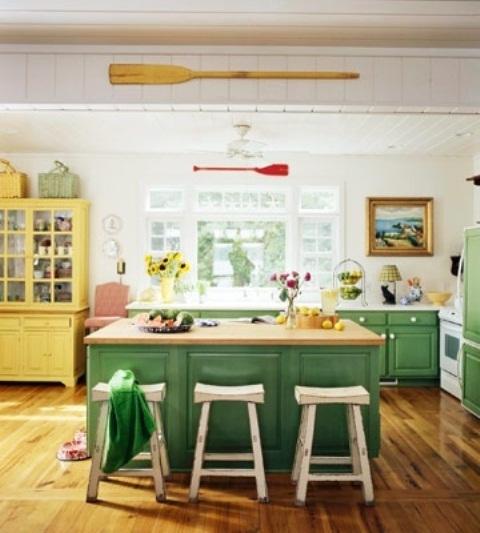 Green And Yellow Kitchen Ideas: Здравей лято! 50 идеи за кухненски интериор в жълто и зелено