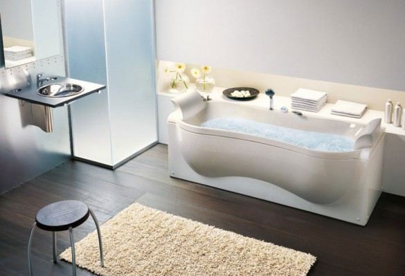 Modern-and-Unique-Bathtub-Design-with-Organic-Shaped-585x399