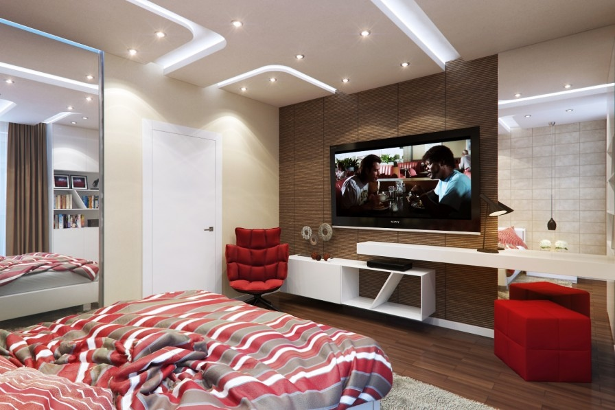 Cool Bedroom With Tv E