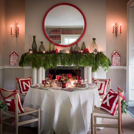 Small Space Dining Room Decoration Tips 17035: Коледна украса- 37 идеи за трапезарията