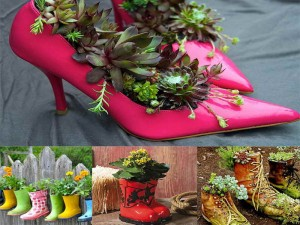 Gardening-Flower-Pots-Decoration-Ideas-with-shoes