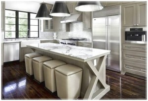 Grey-Kitchen-Cabinets-Kitchen-decor-kitchen-which-has-four-seats-that-lined-600x407