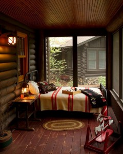 cabin-old-rustic-porch-sleeping-bed