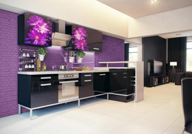 for Black and purple kitchen ideas