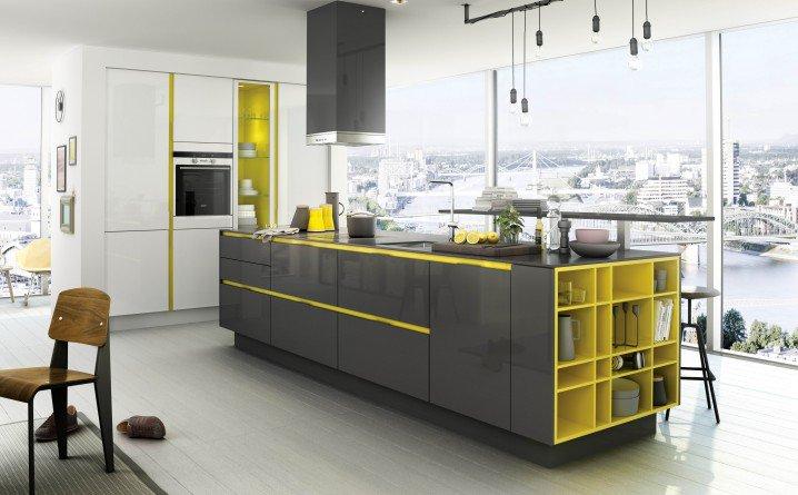 идеи за кухня и жълто