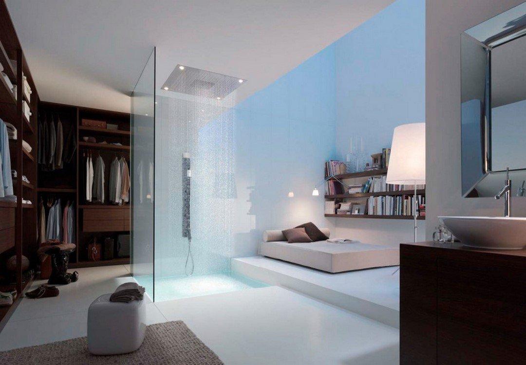 идея за душ в спалнята