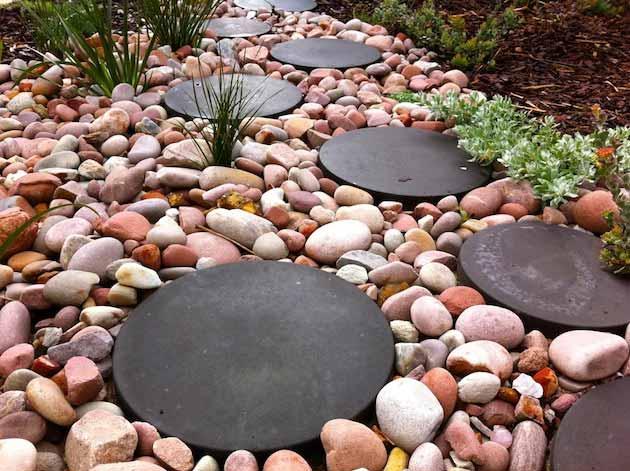 градински пътеки с камъчета