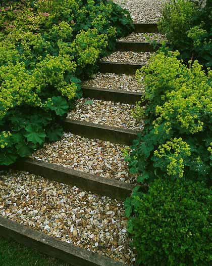 градински пътеки стъпала с камани