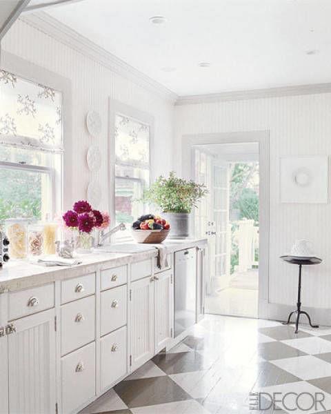 белият цвят в кухнята