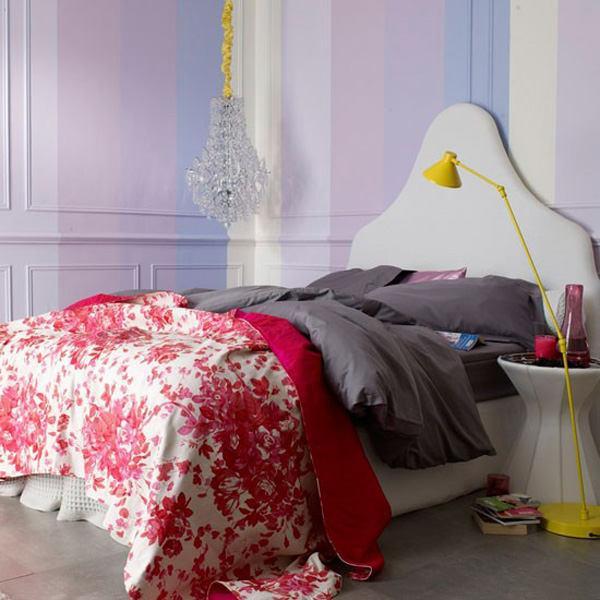 бледо лилаво в спалнята