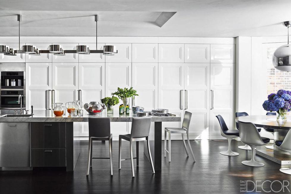 бяла модерна кухня