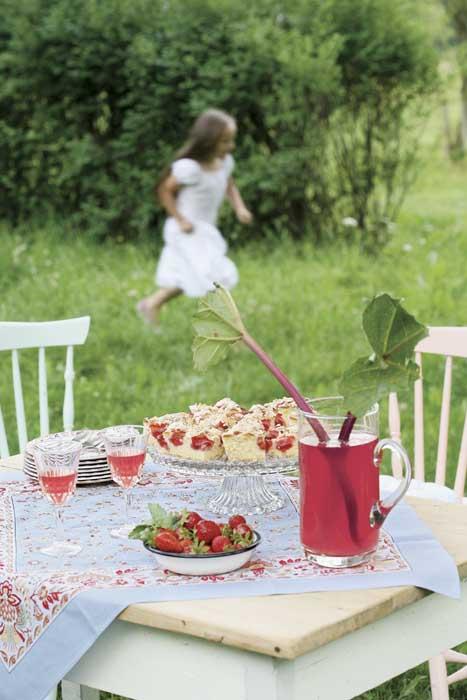 декорация на маса в градината