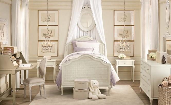 идея за момичешка спалня в рустик стил