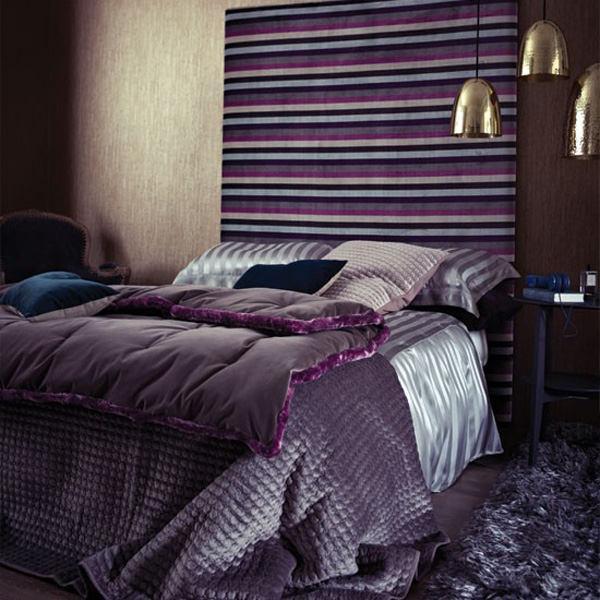 лилаво решение за спалня