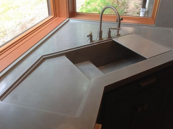 модерна ъглова мивка