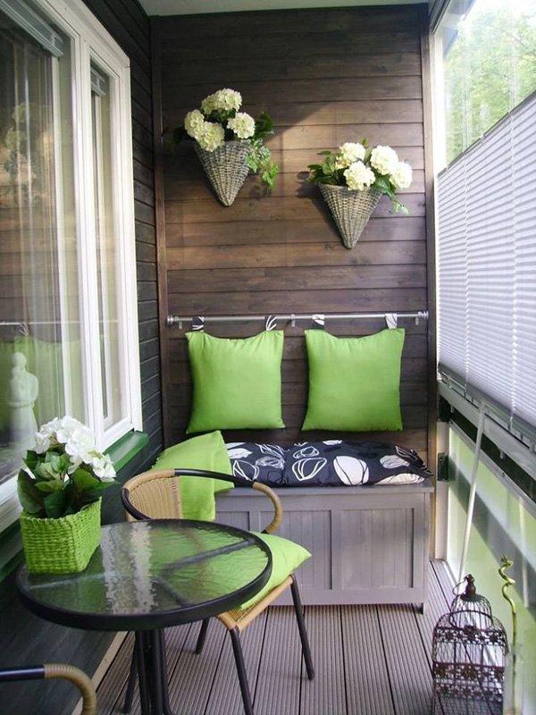 обзавеждане за тераса в зелено
