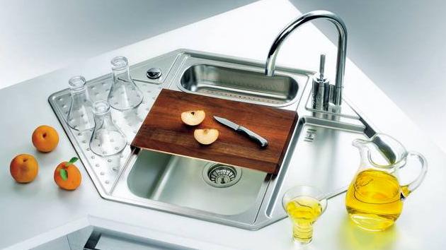 практична ъглова мивка