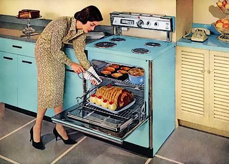 ретро кухня в пастелни тонове