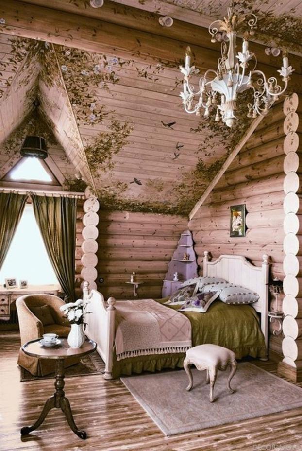 романтична кънтри спалня