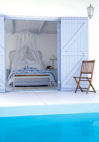 романтична морска спалня