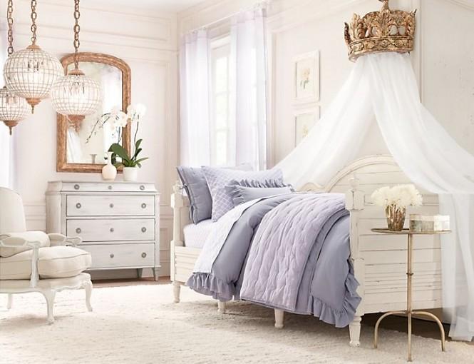 романтична-рустик спалня за момиче