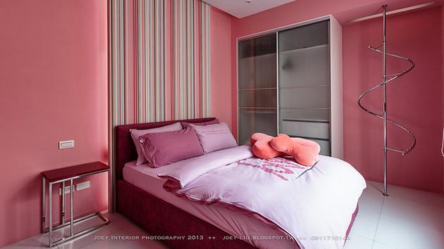 розов акцент в спалнята