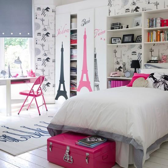 розови акценти в стая за тийнейджърка