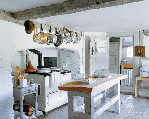 рустик бяла кухня