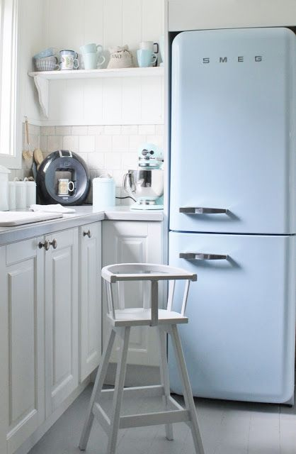 сини акценти в кухнята