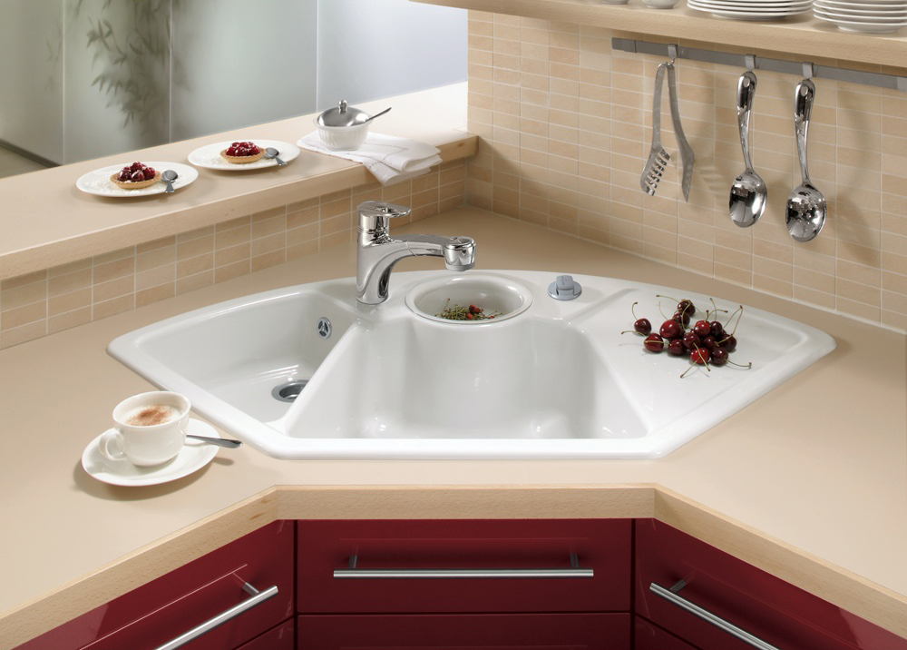 свежа идея за ъглова мивка