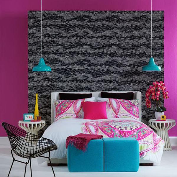 цветни акценти в спалнята
