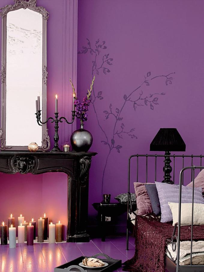 виолетово с спалнята
