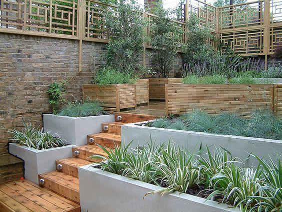 градина с наклон