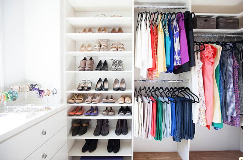деи за организиране на гардероба 3