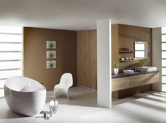 голяма модерна баня