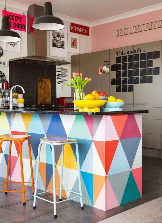 идея за цветна кухня