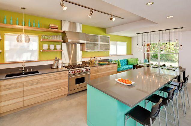 кухня в зелено-и синьо