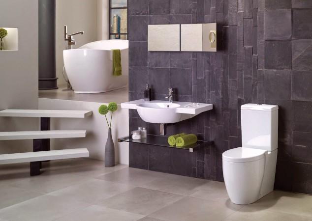 модерен дизайн на баня на нива