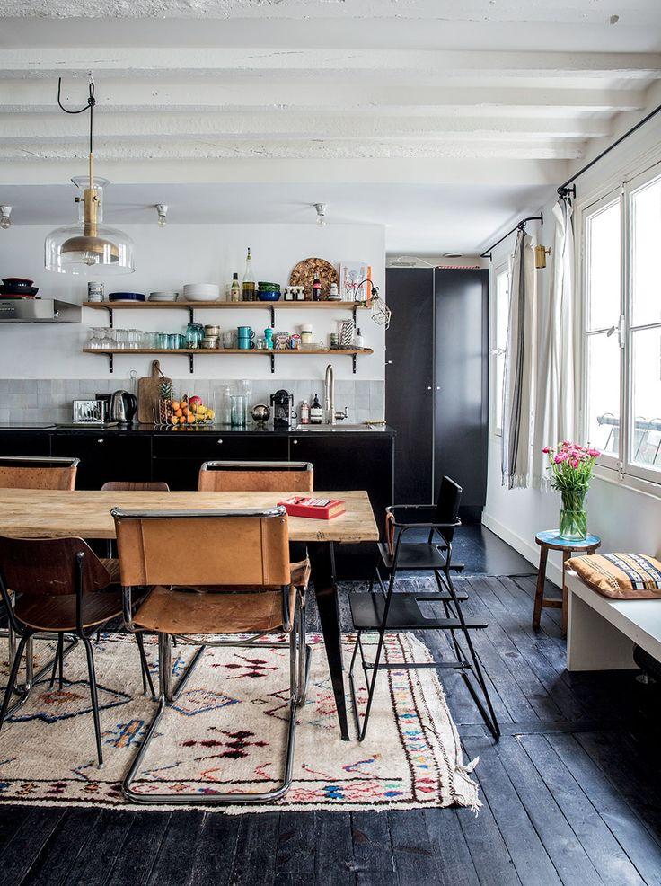 модерна черна кухня 10