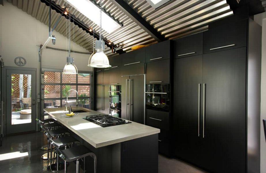 модерна черна кухня 3