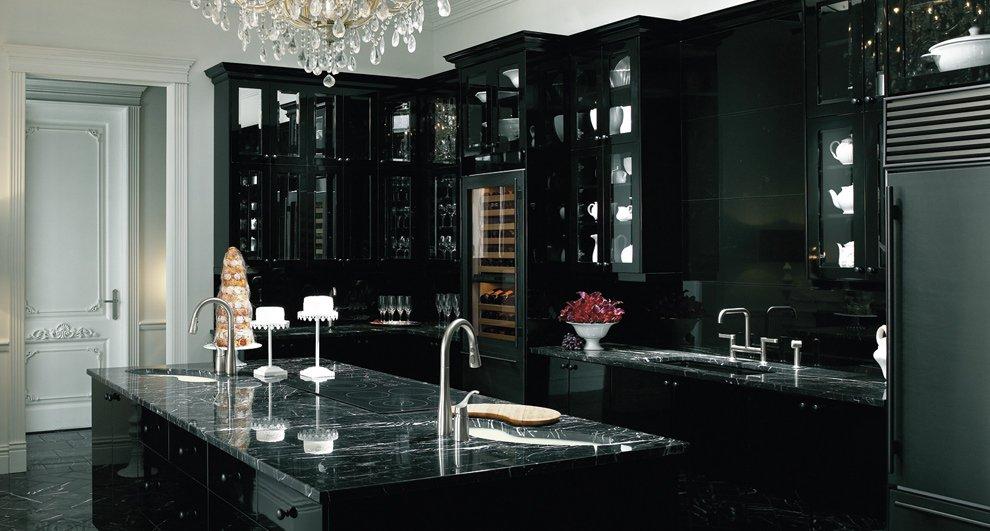 модерна черна кухня 5