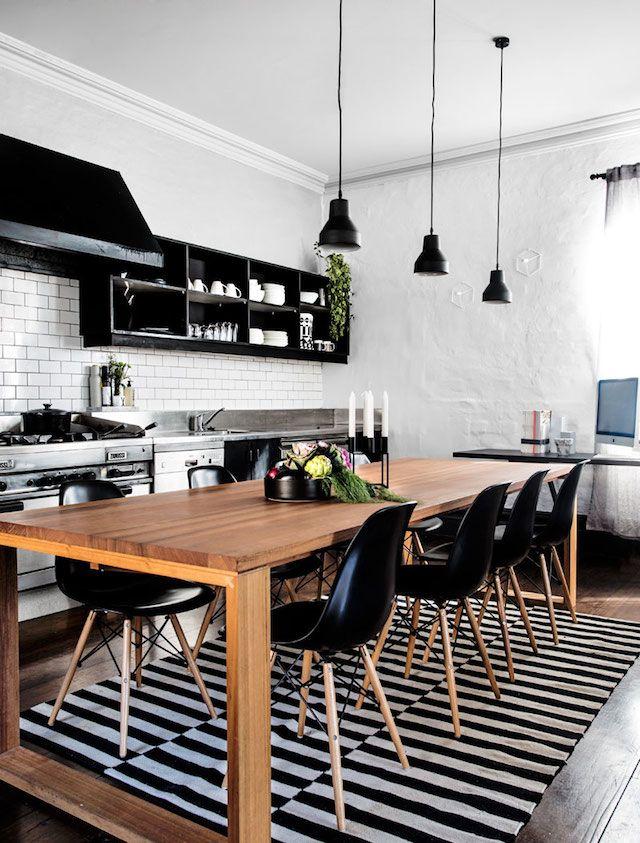 модерна черна кухня 6